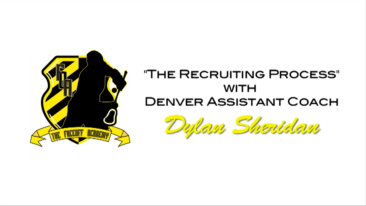 Denver lacrosse assistant Dylan Sheridan talks about the sports recruiting process